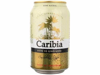 Alus nealkoholinis Caribia Ginger skard. 0,33 l