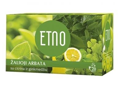 Arbata Etno žalioji arbata su citrina ir ginkmedžiu 20 pak.