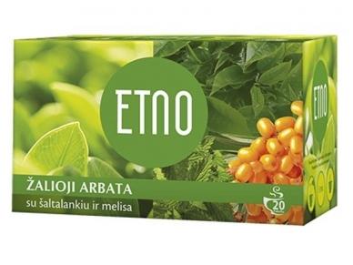 Arbata Etno žalioji su šaltalankiu ir melisa 20 pak.