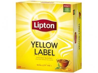 Arbata Lipton Yellow label 100 pak.
