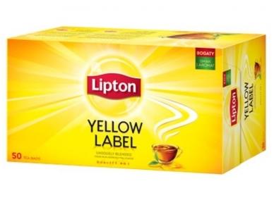 Arbata Lipton Yellow label 50 pak.