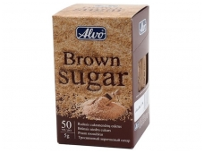 Cukrus piršteliai Alvas rudas (50 vnt * 5 g) 0,25 kg