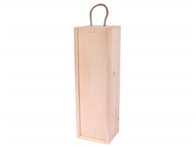 Dėžutė medinė vyno buteliui vertikali 1 but.