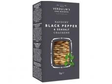 Krekeriai su juodaisiais pipirais ir jūros druska 85 g