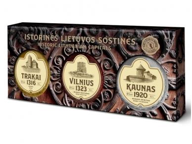 Midus rinkinys Trakai Vilnius Kaunas 3 x 0,1 l