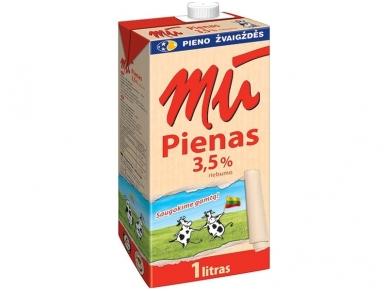 Pienas Mū Natūralus 3,5% 1 l