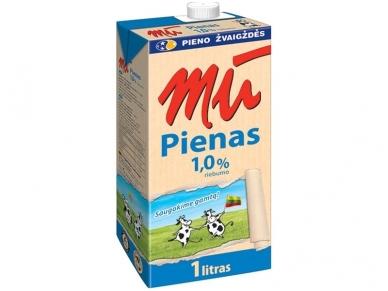 Pienas Mū pasterizuotas 1% 1 l
