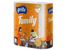 Popieriniai rankšluosčiai Grite Family 2 vnt