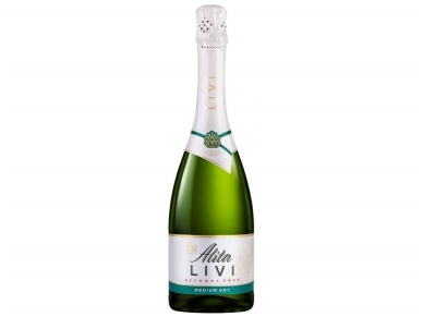 Putojantis vynas nealkoholinis Alita Livi Medium Dry 0,75 l