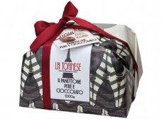 Pyragas Panettone La Torinese su kriaušėmis ir šokolado gabaliukais 1000 g