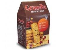 Sausainiai Granella su riešutais ir spanguolėmis 240 g