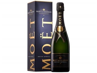 Šampanas Moet Nectar Imperial Champagne su dėž. 0,75 l
