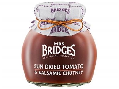 Mrs Bridges Saulėje džiovintų pomidorų ir balzamiko čatnis 100 g