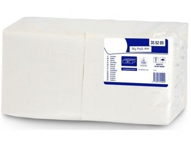 Servetėlės Big-pack baltos 400 vnt