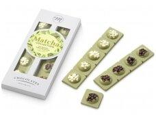 Šokoladas Matcha arbatos su šokoladu ir trapučiais 120 g