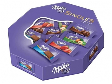 Šokoladai Milka Mini Single Mix 138 g