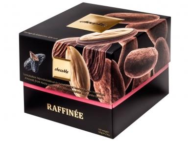 Šokoladas Migdolai, padengti juodu šokoladu, pipirais iš Madagaskaro ir kakavos milteliais 120 g