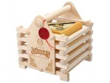 Sūris Džiugas Keturkampis medinėje dėž. 0,9 kg