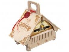 Sūris Džiugas Namelis medinėje dėž. 0,9 kg