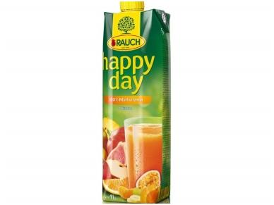 Sultys Happy Day įvairių vaisių 100 % 1 l