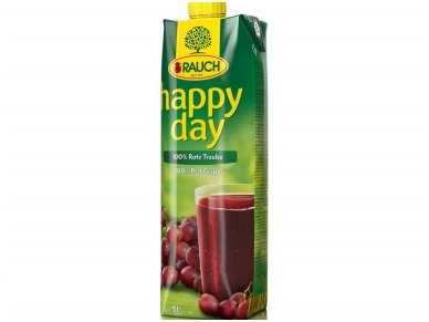 Sultys Happy Day raudonųjų vynuogių nektaras 1 l