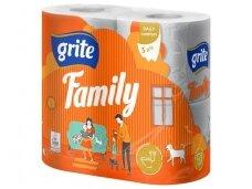 Tualetinis popierius Grite Family 4 vnt