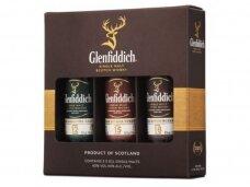 Viskis Glenfiddich rinkinys 3 X 0,05 l mini