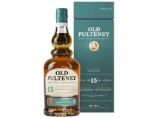 Viskis Old Pulteney 15 YO Single Malt su dėž. 0,7 l