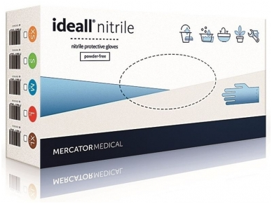 Vienkartinės nitrilinės pirštinės Ideal Nitril (S)
