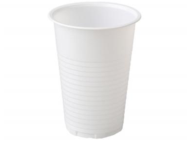 Vienkartinės stiklinės baltos (200 ml) 100 vnt