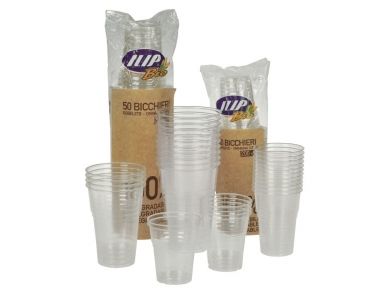 Vienkartinės stiklinės BIO (300 ml) 50 vnt 2
