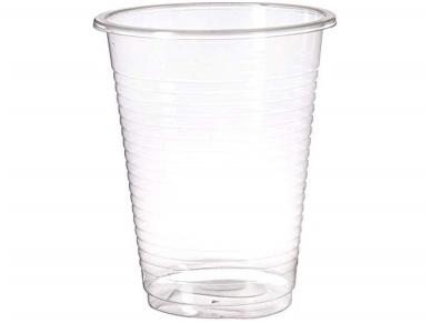 Vienkartinės stiklinės skaidrios (200 ml) 100 vnt