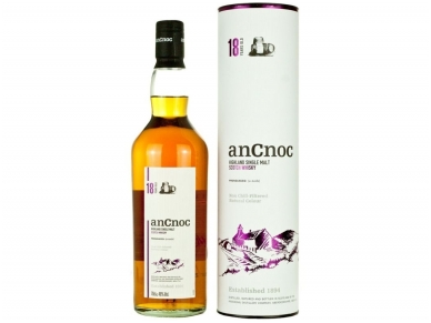 Viskis Ancnoc 18 YO Single Malt su dėž. 0,7 l