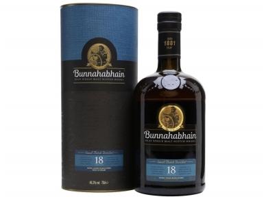 Viskis Bunnahabhain 18 YO su dėž. 0,7 l