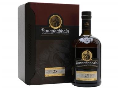 Viskis Bunnahabhain 25 YO su dėž. 0,7 l