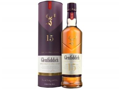 Viskis Glenfiddich Solera 15 YO su dėž. 0,7 l