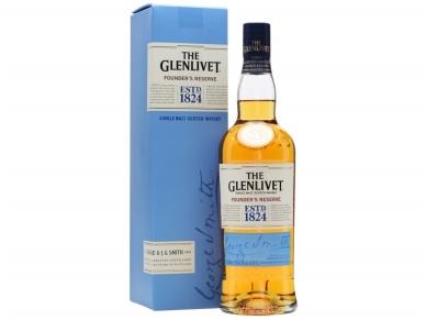 Viskis Glenlivet Single Founder's Reserve su dėž. 0,7 l