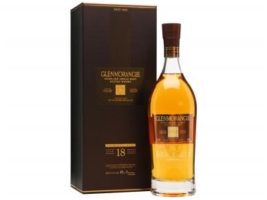 Viskis Glenmorangie Single Malt 18 YO su dėž. 0,7 l