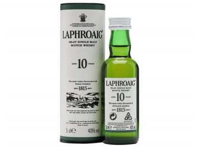 Viskis Laphroaig 10 YO su dėž. 0,05 l