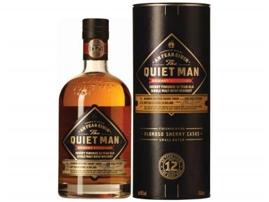 Viskis The Quiet Man Single Malt 12 YO Sherry Finish su dėž. 0,7 l