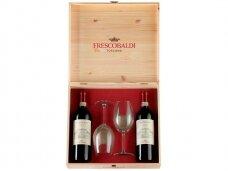 Vynas Frescobaldi Castiglioni Chianti D.O.C.G. (2 but. ir 2 taur.) su dėž. 0,75 l